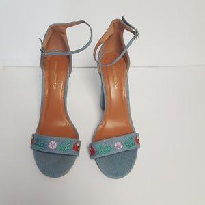 Shoe republic LA embroidered sandals